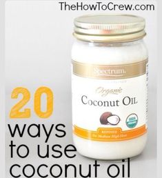 20 Creative Ways to Use Coconut Oil! Great tips and tricks! 20 Creative Ways to Use Coconut Oil! Great tips and tricks! Health And Beauty Tips, Health And Wellness, Home Remedies, Natural Remedies, Beauty Secrets, Beauty Hacks, Beauty Products, Diy Beauty, Salud Natural