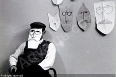 MORATH Inge, 1923-2002 (Austria)  Title : Portrait de Saul Steinberg (2)   Date : 1959/1963