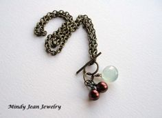 Brass and Berries Necklace  www.mindyjeanjewelry.etsy.com
