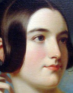 Miss Jane Mercer, 1840 (detail) Samuel Bell Waugh