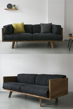 Nutsandwoods oak linen sofa Take a nap? Give your breaks the perfect place # furniture Ikea Furniture, Cool Furniture, Furniture Design, Furniture Removal, Furniture Buyers, Furniture Online, Rustic Furniture, Furniture Ideas, Bed Linen Design
