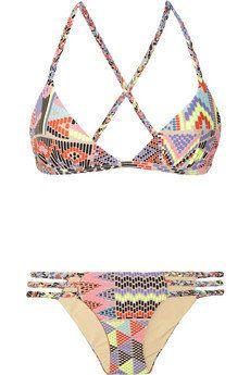 Mara Hoffman Maya printed triangle bikini  NET-A-PORTER.COM