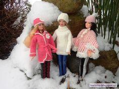 Pletení a háčkování pro Barbie: Zimní móda