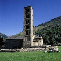 Catalan Romanesque Churches of the Vall de Boí, Spain - The narrow Vall de Boí is situated in the high Pyrénées, in the Alta Ribagorça region and is surrounded by steep mountains. Each village in the valley contains a Romanesque church, and is surrounded by a pattern of enclosed fields.