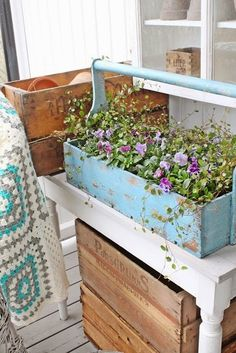 Backwoods Cottage: Trugs & Toolboxes, stylish storage