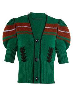 Puff-sleeve wool cardigan  | Miu Miu | MATCHESFASHION.COM AU
