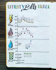 NEW Bullet Journal Setup - Utility Bills Tracker  Since I started my new @scribblesthatmatter in June, I've been saving a page to make my new Utility Bills Tracker. I finally finished it this past weekend before lots of traveling this week! I love how it turned out and love how the graphs easily show our power and water usage. This  spread is really going to help!  Though my journal will only run from June through December 2017, I went as far back as I could on these numbers for comparison.