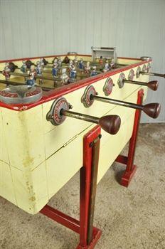 VINTAGE FOOSBALL TABLE GAMES ALUMINUM PLAYERS On Foosball - Antique foosball table for sale
