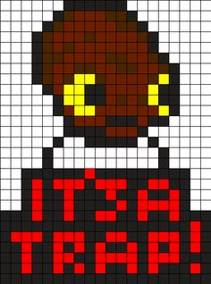 It's a Trap! - Star Wars Perler Bead Pattern