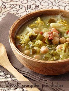 Alter Gusto   Soupe au brocoli, courgettes, pois chiches & basilic -