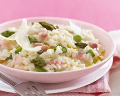 Dine With Donna: Aspargus Risotto with Pancetta and Truffle Oil . Truffle Oil, Risotto Recipes, Recipe Details, Meatless Monday, Fabulous Foods, Truffles, Asparagus, Delish, Food And Drink