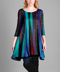 Look what I found on #zulily! Blue Abstract Swing Tunic - Plus Too #zulilyfinds