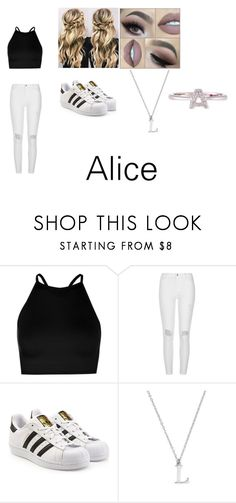 """alice"" by courts-horan13 on Polyvore featuring Boohoo, River Island, adidas Originals and Roberto Coin"
