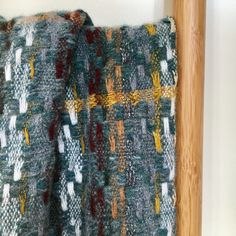 Handwoven scarf in soft lambswool in autumnal colours