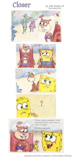 Spandy Comic - Closer by howsimplylovely by AndresToons on DeviantArt Video Game Movies, Cartoon Video Games, Spongebob And Sandy, Closer, Cartoon Crazy, Sandy Cheeks, Fanart, Nickelodeon, Spongebob