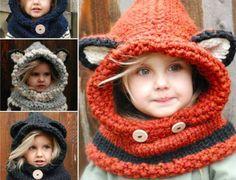 Tuto   La capuche oreilles d ours pour les enfants ou les adultes. Echarpe  EnfantBonnet EnfantTricot ... e903b66d286