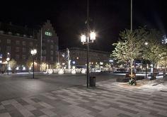 Fristadstorget | Square - Specially designed luminaire, Ateljén | ateljé Lyktan