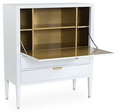 Ingrid Secretary Desk, White | Great Character, Gorgeous Style | One Kings Lane