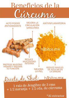 Beneficios de la cúrcuma #hábitos #salud #habitosmx #health