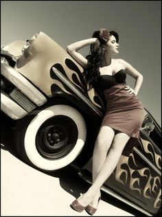 Girls and cars! #50s