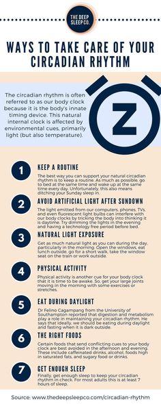 What is a circadian rhythm and how can you fix your body clock? This article explains what a circadian rhythm is, how important biorhythms are, and how you can keep your body clock on track for a healthy and happy life. Insomnia Causes, Insomnia Remedies, Natural Sleep Remedies, Sleep World, Natural Sleeping Pills, Body Clock, Sleep Deprivation, Health Articles, Health Tips