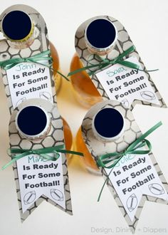Custom Bottle Hang Tags For Football Season And Lots More!