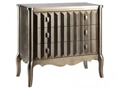 House of Hampton Sheila 3 Drawer Accent Chest 3 Drawer Chest, Wood Chest, Furniture Styles, Accent Furniture, Furniture Ideas, Painted Furniture, Metallic Furniture, House Furniture, Unique Furniture