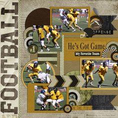 437 best football scrapbook layouts images scrapbooking layouts