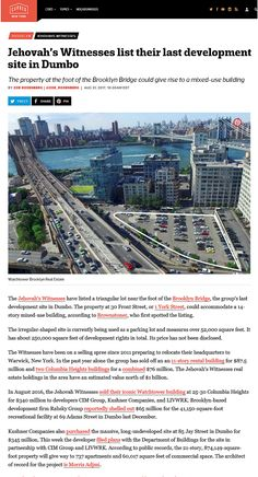 Jw News, Jehovah's Witnesses, Brooklyn Bridge, City, Jehovah Witness, City Drawing, Cities