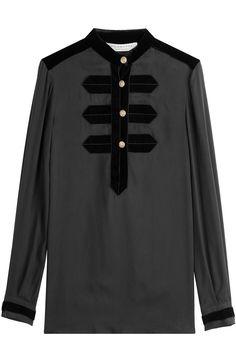 PHILOSOPHY DI LORENZO SERAFINI Blouse with Velvet Detail. #philosophydilorenzoserafini #cloth #blouses