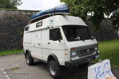Image may have been reduced in size. Click image to view fullscreen. Vw Lt Camper, Camper Van, Adventure Campers, Off Road Adventure, Kayaks, Vw Lt 4x4, Vw Wagon, Vw Modelle, Vw Syncro