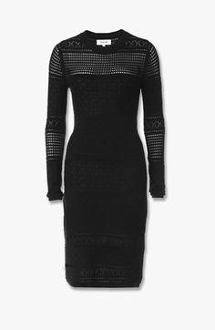 L/S Crewneck Midi Dress