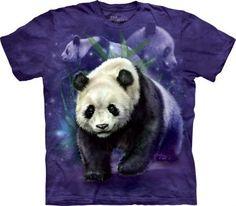 Panda Collage - The Mountain - Koszulka z pandą - www.veoveo.pl