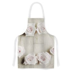 Smile by Cristina Mitchell Wood Roses Artistic Apron