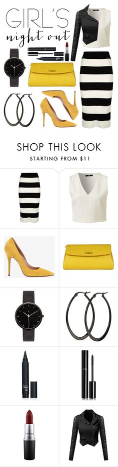 """Girl's Night Out!"" by jesstyle80 on Polyvore featuring Milly, Jean-Michel Cazabat, Fendi, I Love Ugly, Chanel, MAC Cosmetics, women's clothing, women, female and woman"