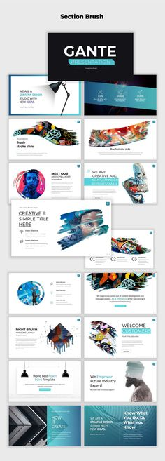 Gante Powerpoint Template by Mikoslide on Web Design, Slide Design, Layout Design, Design Art, Graphic Design, Great Powerpoint Presentations, Powerpoint Design Templates, Booklet Design, Flyer Template