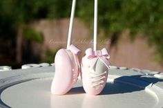 Ballet shoe cake pops! Cute!