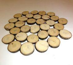 Wooden Discs Tree Rustic Wedding Wood Slices Decor Log by NayasArt
