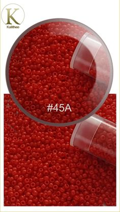 #seedbeads #toho #size11 #cherryRed #redbeads #beading #beadingSupply  Cherry Opaque Round Toho Seed Beads Size 11/0 - Japanese Seed Beads are the finest in the world. These Far Eastern manufacturers have a well-deserved reputation for achieving greater uniformity and consistency of size, shape and finish. Visit our jewellery supply section @ kalitheo.com.au for our range of findings and beads.
