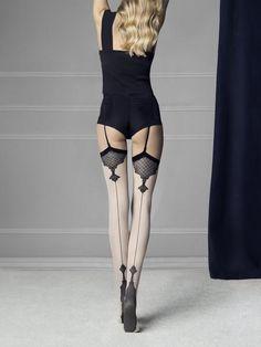 Fiore Obsession Designer Etheris Stockings 20 Denier Patterned Tops
