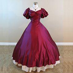 guerra civile vestito rosso vestito dall'abito di sfera rievocazione vittoriano vino periodo steampunk®mid del 19 ° secolo del 2016 a €121.51