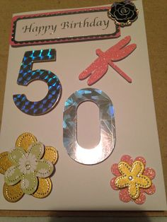 50th female handmade birthday vCard