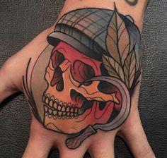 nice 70 Immortal Skull Tattoo Designs - Get Them Inked into Your Skin Hand Palm Tattoos, Skull Hand Tattoo, Circle Tattoos, Skull Tattoo Design, Baby Tattoos, Skull Tattoos, Life Tattoos, Tattoos For Guys, Tattoo Designs