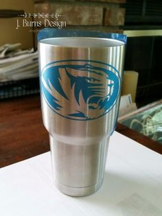 DIY Last Minute Father's Day Gift - Etching Stainless Steel Tumblers