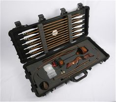 Survival take down recurve bow, Arrows and Accessories w/pelican case & arrows by Black Widow Bows.