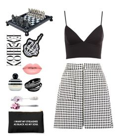 """""""Gingham Get Up!"""" by emilykatephilip on Polyvore featuring Lime Crime, Marc Jacobs, women's clothing, women, female, woman, misses and juniors"""