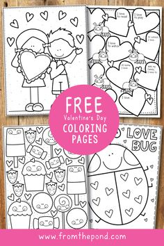 Valentinstag Malvorlagen - From the Pond Coloring Club Arts And Crafts For Teens, Art And Craft Videos, Easy Arts And Crafts, Valentine Theme, Valentines Art, Valentine Crafts For Kids, Valentines Day Activities, Valentinstag Party, Valentines Day Coloring Page