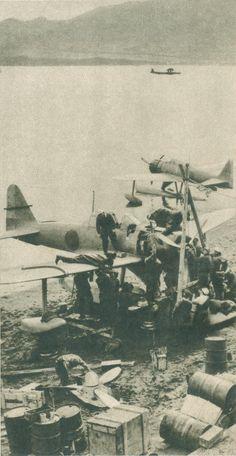 Japanese pilots, Kiska Island, Alaska, 1942
