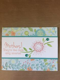 Close To My Heart Mothers Day card.  New Blossom Paper Packet.