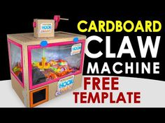Although my previous cardboard claw machine was very easy, it still needed to be simplified even more. So, here is the easiest version of a claw machine anyo. Cardboard Box Crafts, Cardboard Crafts, The Claw Toy Story, Garra, Toy Claw Machine, Diy Crafts For Kids, Fun Crafts, Hook Game, Diy Gumball Machine